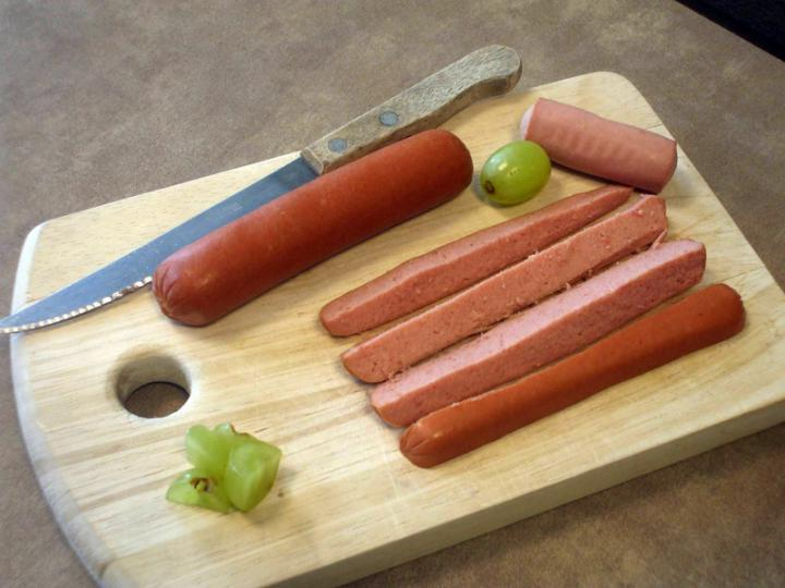 Cutting Hot Dogs and Grapes